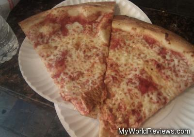 Two slices of pizza