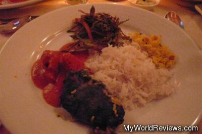 Kararee Bhindi, Tandoori Grilled Halibut, Butter Chicken