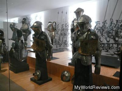 Some of the many suits of armor