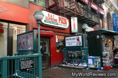 B&T Supreme Pizza in the Upper East Side