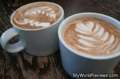 Two small lattes