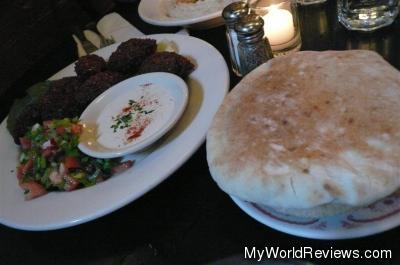 Falafel Plate with Salad and Tahini