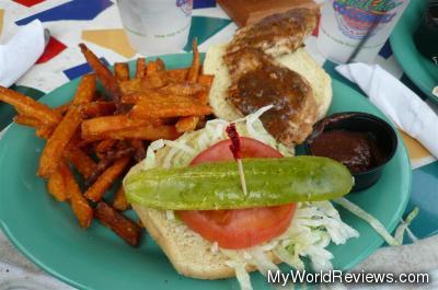 Jamaican Jerk Chicken with Sweet Potato Fries