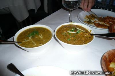 Langarwali Dal and Chicken Kali Mirch