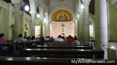 Inside the Church of St. Joseph