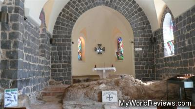 Inside the Church of the Primacy of Peter