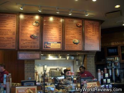 Inside the Corner Bakery Cafe