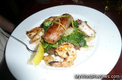 Grilled Shrimp & Chorizo Sausage