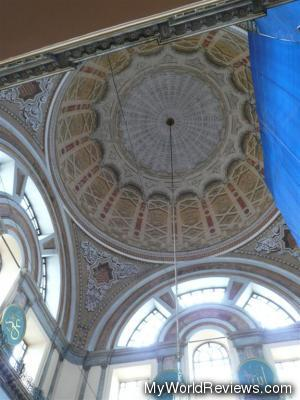 The dome from inside the Mosque