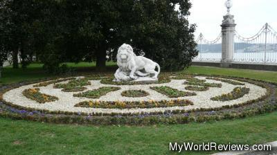 The gardens outside the palace (overlooking the Bosphorus)