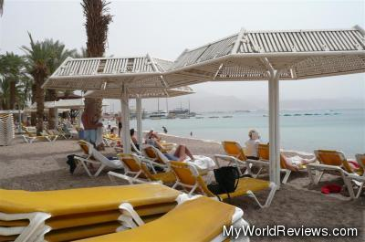 A view of the Red Sea from the promenade