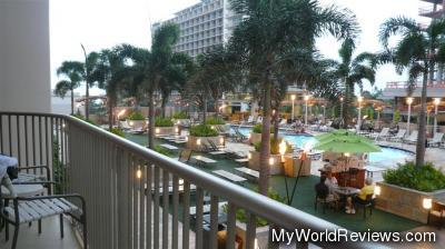 View from our Balcony of the Outdoor Pool and Patio