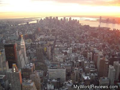 A daytime view from the Empire State Building Observatory