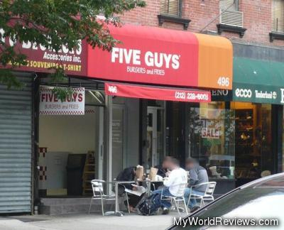 Five Guys Burgers and Fries on LaGuardia Place