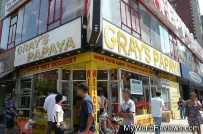 Gray's Papaya in the Upper West Side