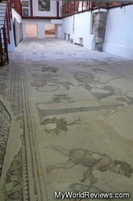 The floor of the mosaic museum (Where the big mosaic is)