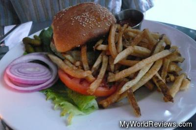 H.K. Hamburger with Fries
