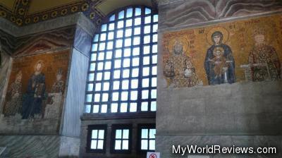 Christian mosaics inside the Hagia Sophia