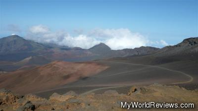 A walking trail around the Haleakala Crater