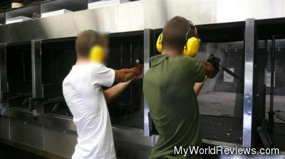 A picture of the indoor shooting range