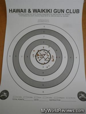 My target after the shooting