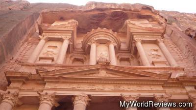 Looking up at The Treasury at Petra