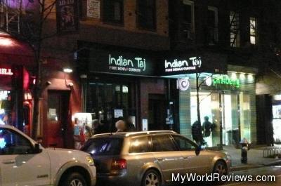 Indian Taj in Greenwich Village