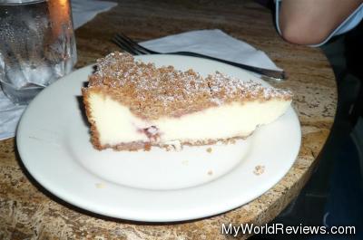 Raspberry Crumb Cheesecake