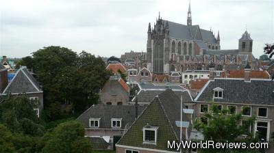 The view from the Citadel of Leiden (Burcht)