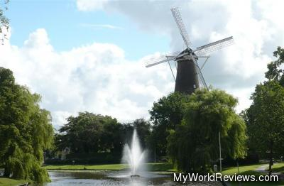 The windmill in the middle of town
