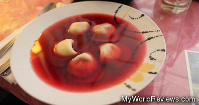 Red Borscht and Dumpling