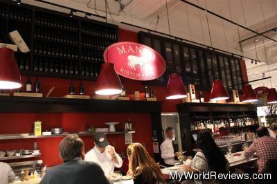 Manzo Restaurant inside Eataly