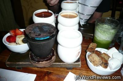 Warm Trio Chocolate and Toffee Caramel Fondue