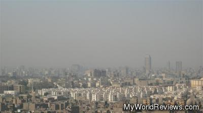View of Cairo from the outdoor square
