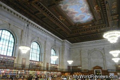 One of the rooms inside the new york library