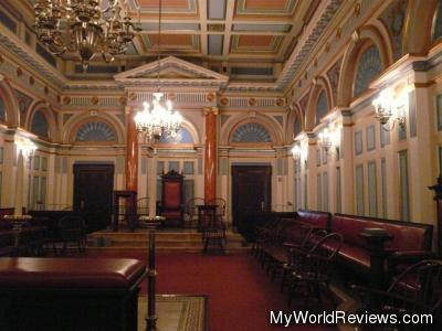 One of the rooms in the Grand Masonic Lodge of New York