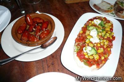 Chorizos and Vegetales Flatbread