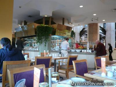 A partial view of the breakfast area