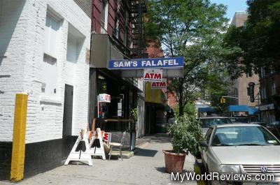 Sam's Falafel in Greenwich Village