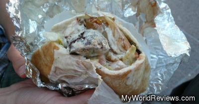 A Falafel Sandwich