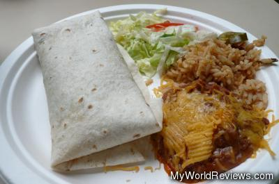 Beef Burrito Plate from the Canyon Cafe