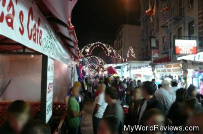Mulberry street was crowded during the San Gennaro Festival
