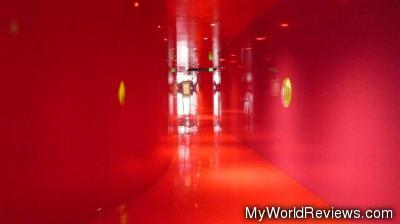 Red area inside the library