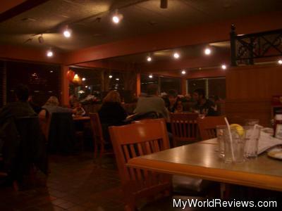 Interior of the restaurant