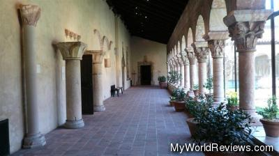 One of the interior cloisters
