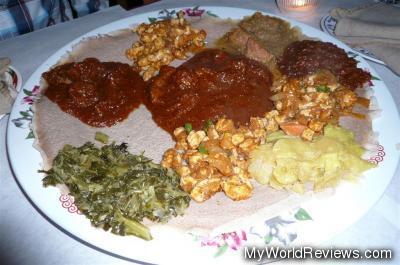 Ethiopia Combo, Tibs Wot, Yedoro Tibs