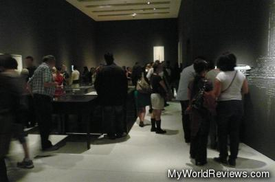 Visitors admiring one of the exhibits