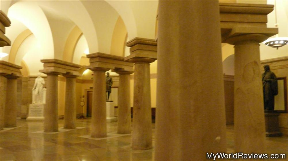 The Crypt Area In The Us Capitol Building