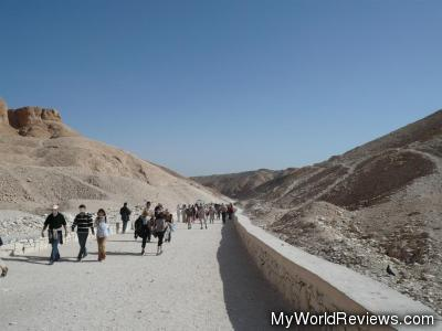 Walkway at the Valley of the Kings