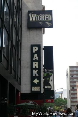 Outside of the Gershwin Theater